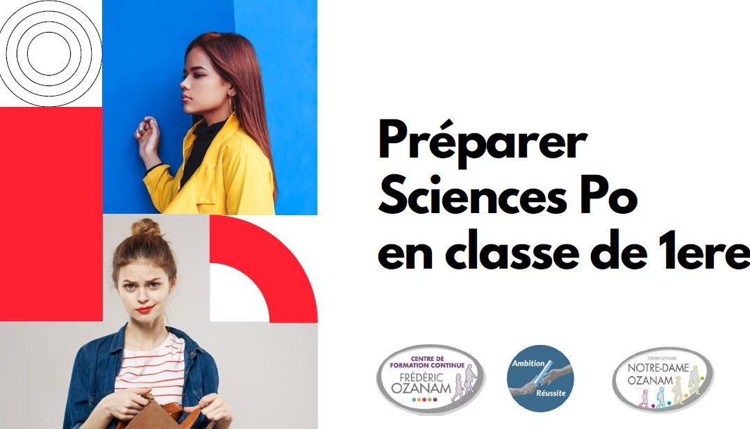 Préparer Sciences Po en classe de 1ère